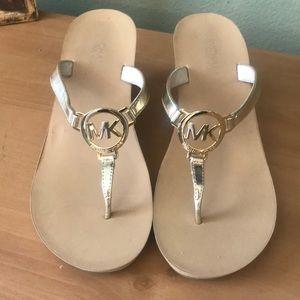 Michael Kors Shoes - Michael Kors Gold Sandals